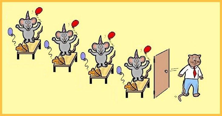 Als De Kat Van Huis Is, Dansen De Muizen Op Tafel