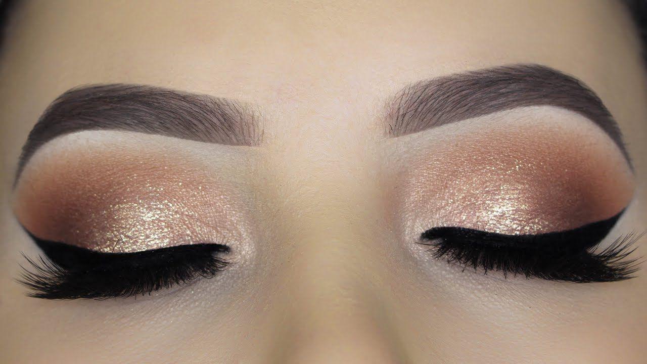Easy Soft Glam Eye Makeup Tutorial Gold Eye Makeup Dramatic Eye Makeup Eye Makeup