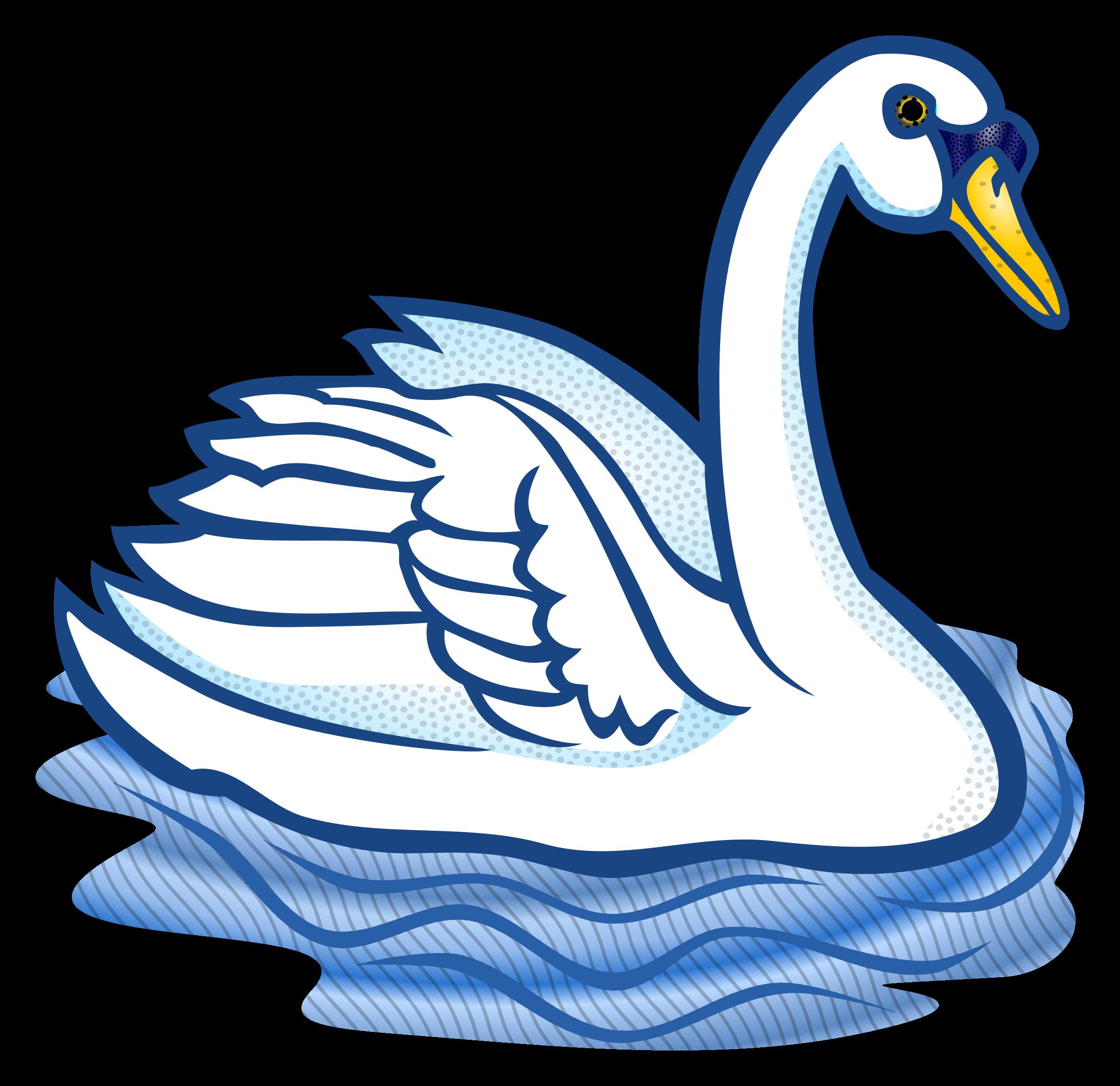 Swan Clipart Feather clip art, Clip art, Public domain
