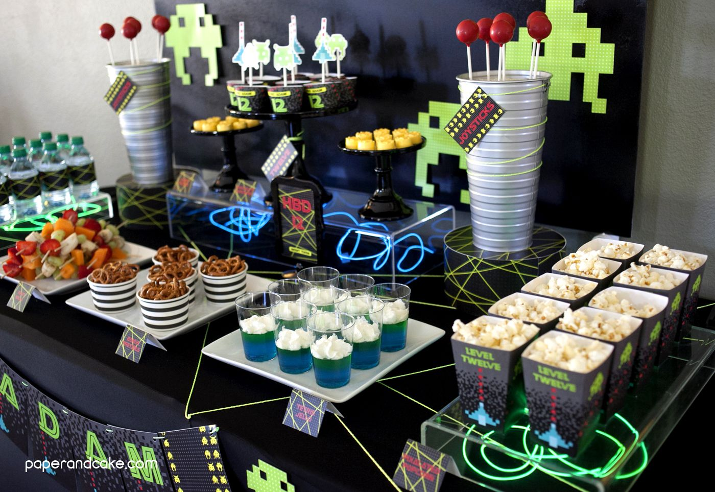 Video Game Birthday Party Birthday Party Ideas Party Party