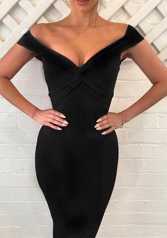 Kleid schwarz kurz v aubchnitt