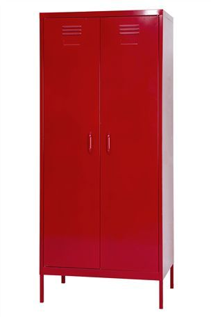 Bright Red Retro Style Metal Locker/cupboard From Next.