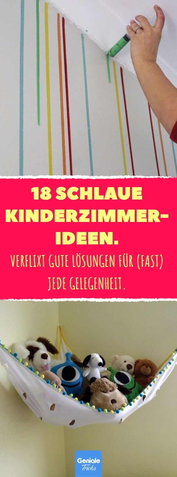 18 schlaue Kinderzimmer-Ideen. #kinderzimmerdeko