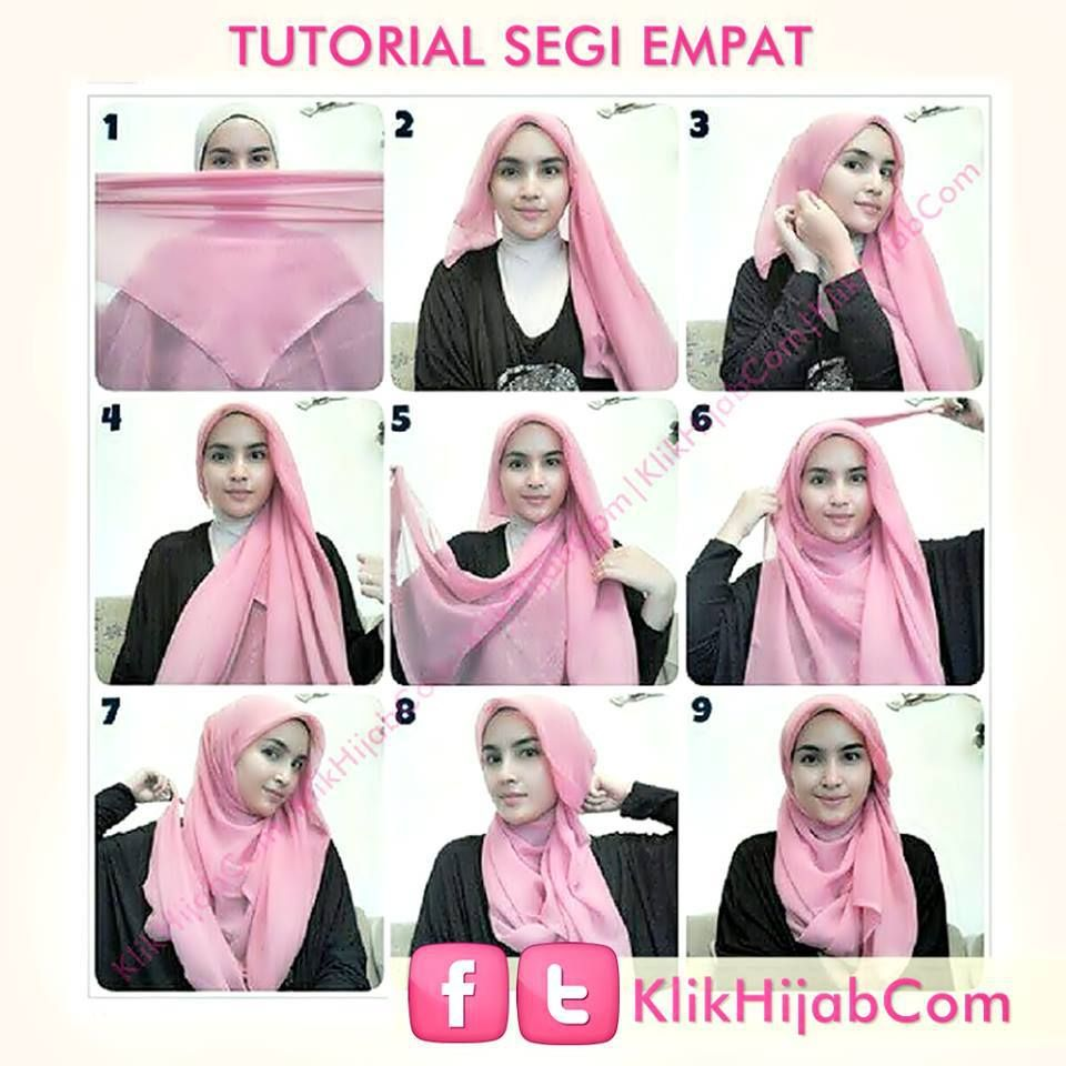 tutorial hijab modern 54 | my looks | pinterest | hijab tutorial