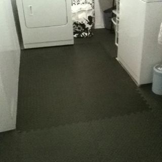 My New Laundry Room Floor Puzzle Piece Foam Flooring Great For A
