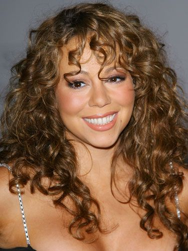 Curly Hair Styles With A Fringe : Mariah carey curls galore cabelo pinterest carey