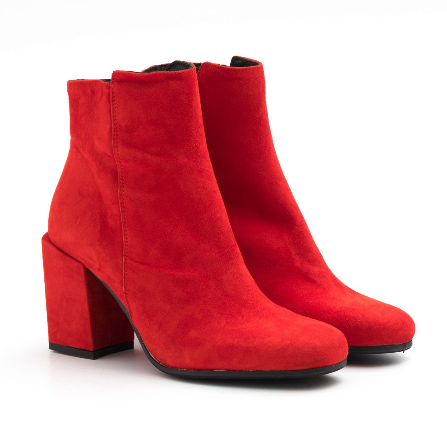Red Suede Round Toe Sangiorgio Ankle Boots In 2020 Boots Red Suede Ankle Boots