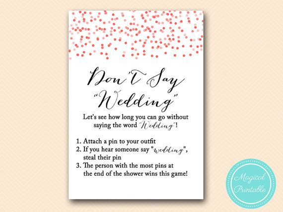 dont say wedding take a pin game red confetti bridal shower game download bachelorette wedding
