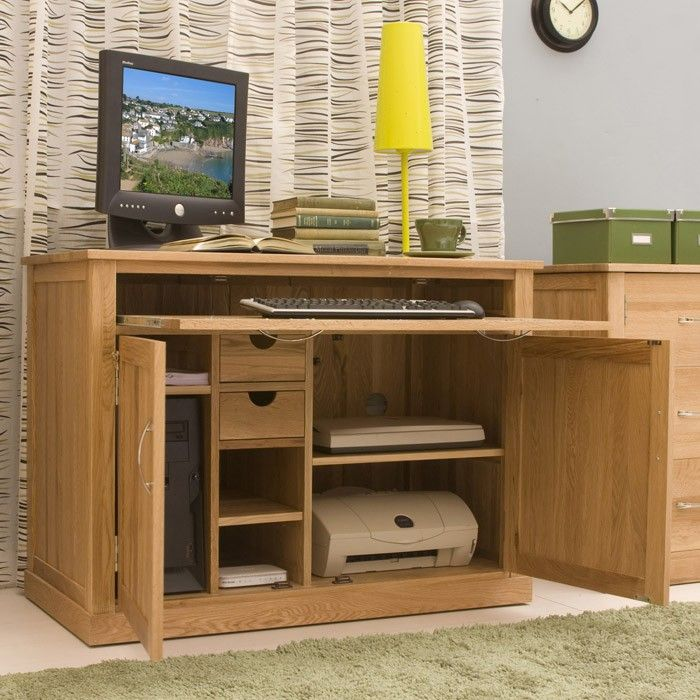 Mobel Oak Hidden Home Office | Office | Pinterest | Office .