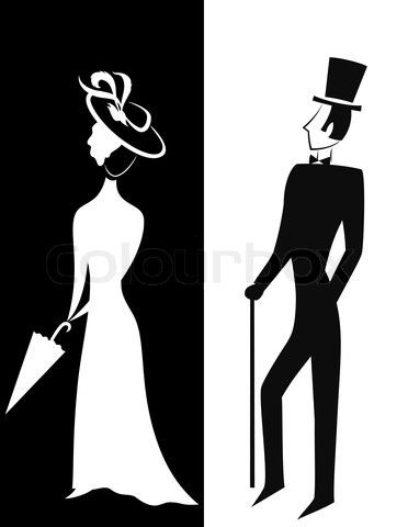 Google Image Result for http://www.colourbox.com/preview/4398172-240825-gentleman-and-lady-symbolic-vintage-style-black-and-white-silhouette.jpg