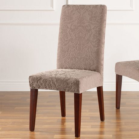 Surefit Sure Fit Jacquard Damask Stretch Dining Chair Slipcover