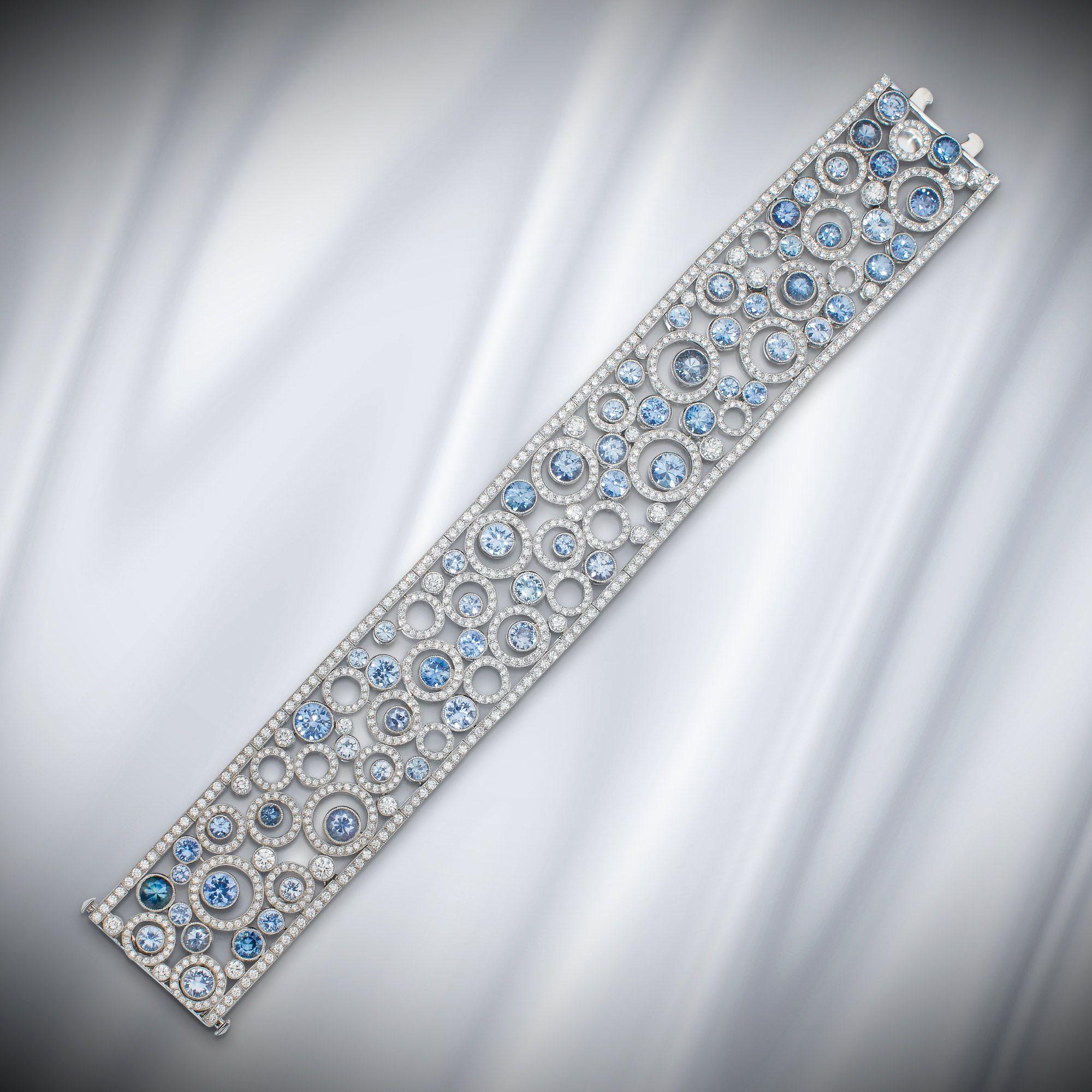 Sapphire and diamond ufloating circlesu bracelet tiffany u co from