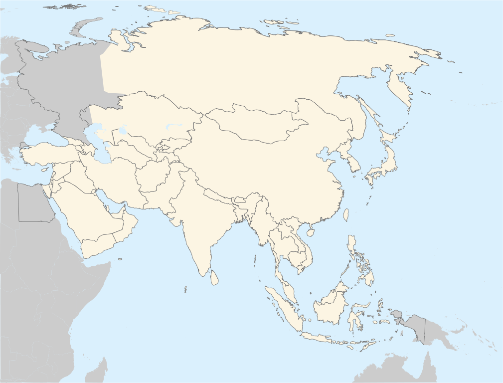 blank map asia | Maps