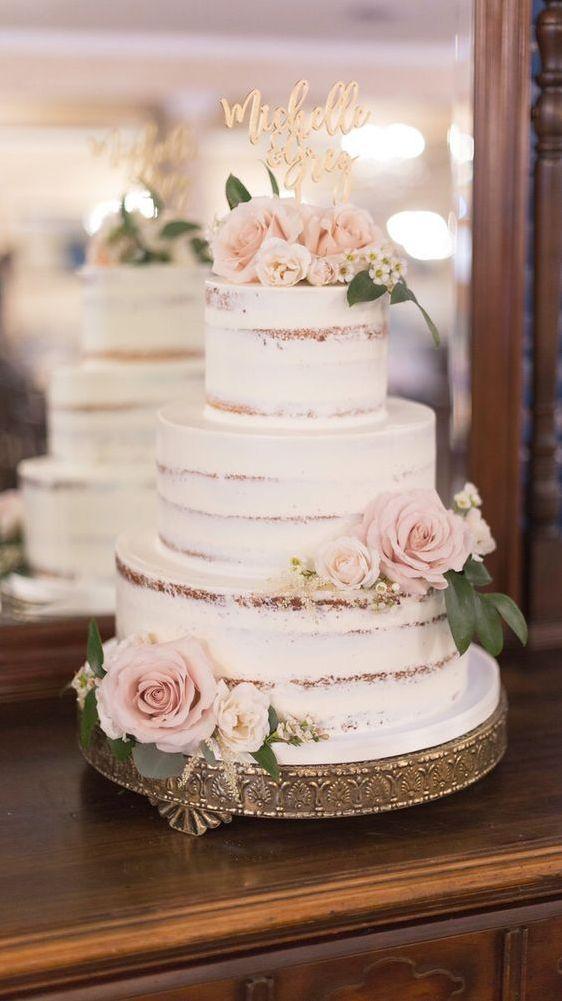 13+ Gorgeous Simple Wedding Cakes That You Will Love - weddingtopia