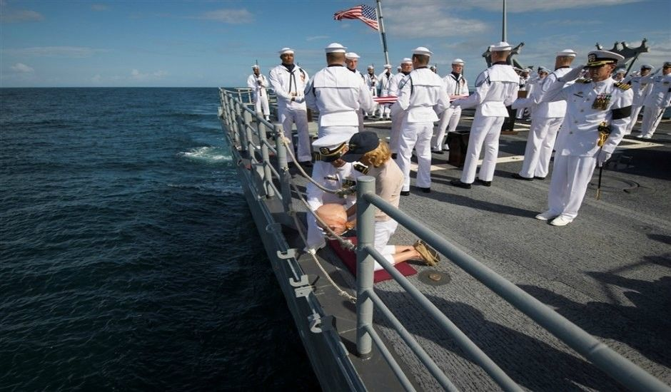Astronaut Neil Armstrong cremated, U.S. Navy buries ashes at sea