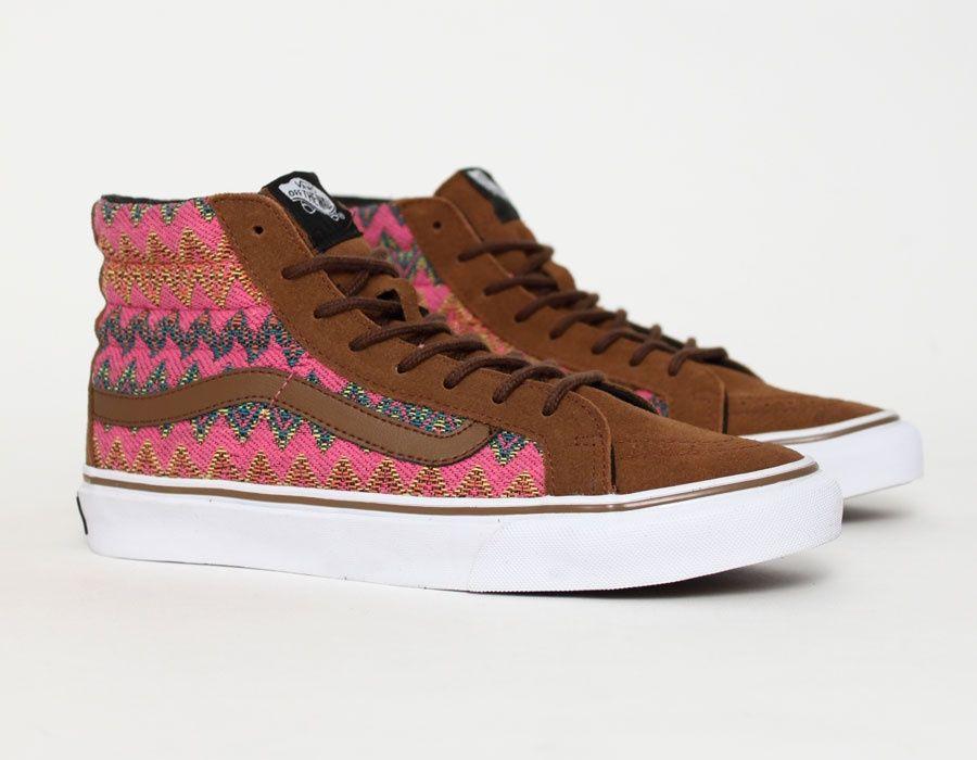 Vans SK8 Hi Slim Zig Zag #Native #Sneakers | Vans, Vans sk8