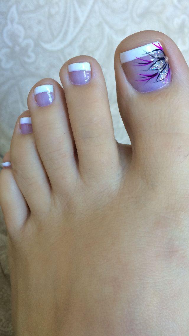 Pedicure, nails, nail art, design, flower, french Nail Design, Nail ...