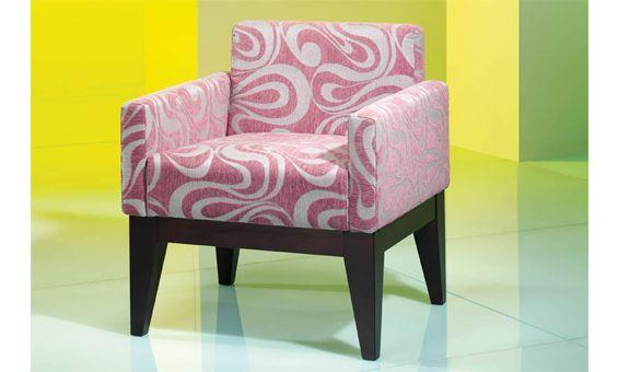 Butaca tapizada en tela con estampado Sillon diseño moderno - butacas modernas