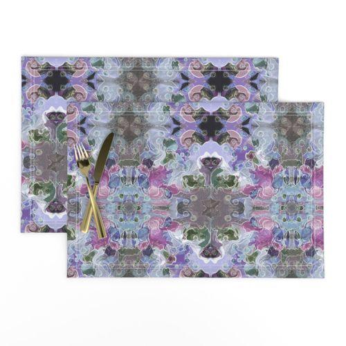 Abstract Flower Kaleidoscope - Green Yel - Spoonflower