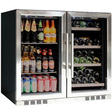 39 Inch Under Counter Wine And Beer Fridge Combo Wine And Beer