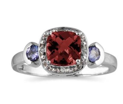 Garnet and Tanzanite ring.