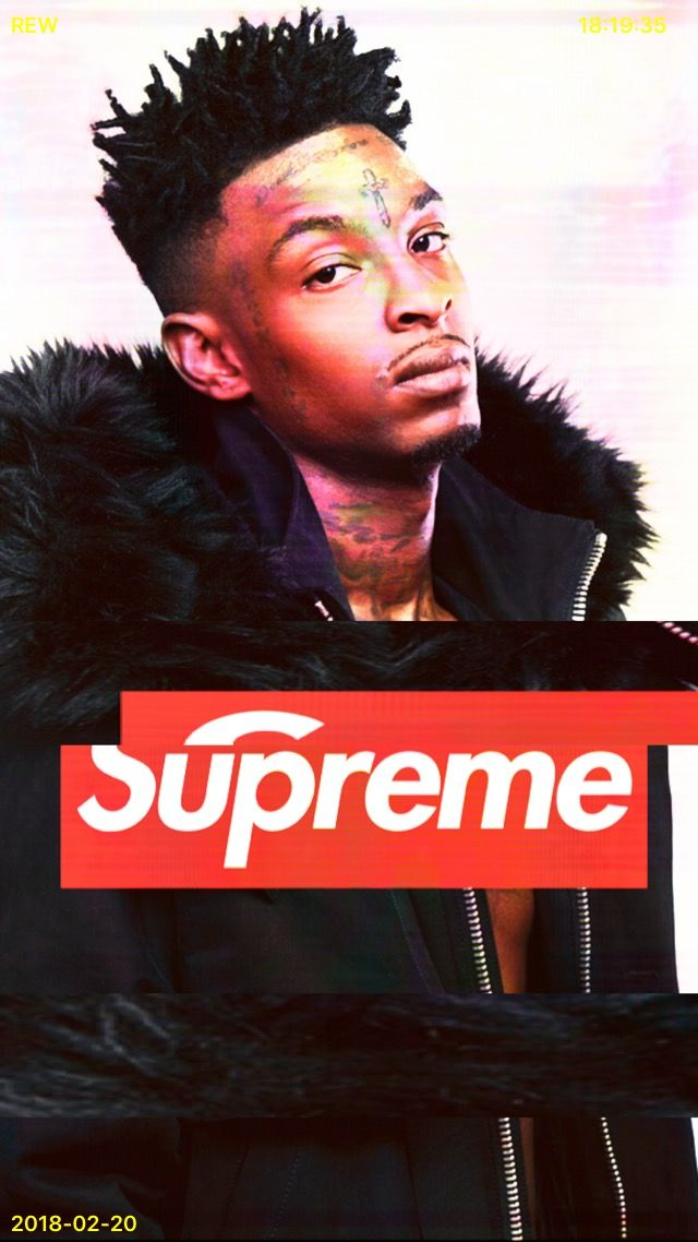 21 savage x supreme supreme supreme wallpaper poses for men pinterest