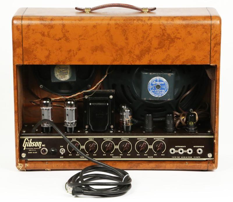 1950 gibson ga 50t 39 50 ga50 vintage electric guitar tube combo amplifier amp ebay amps in 2019. Black Bedroom Furniture Sets. Home Design Ideas