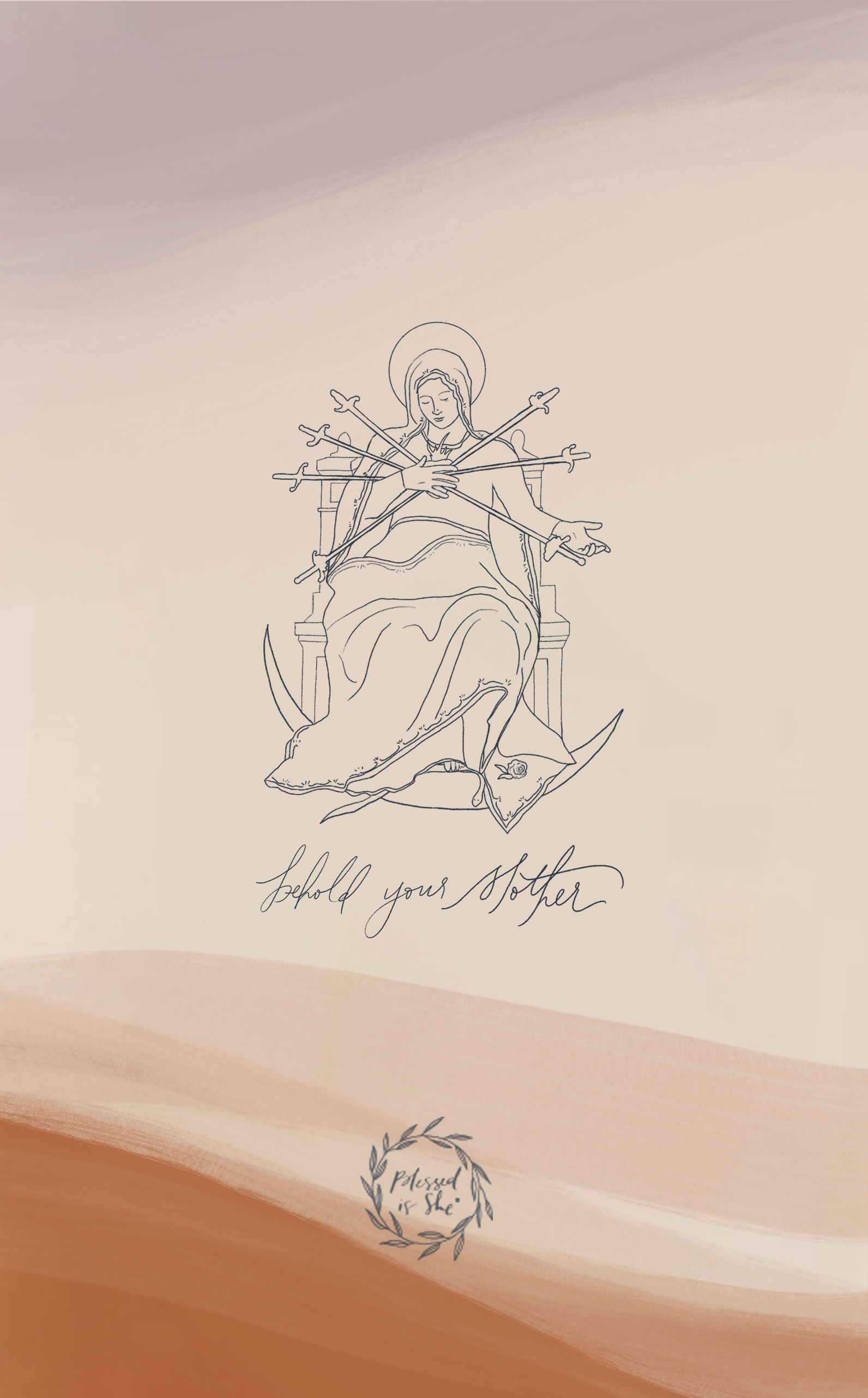iphone wallpaper scripture // iphone wallpaper mary