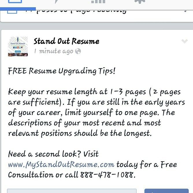 How many pages should your resume be? Resume Tips Pinterest