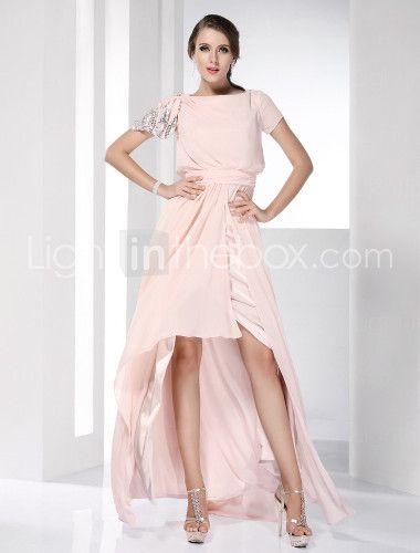 [$109.99] Sheath / Column Celebrity Style High Low Prom ...