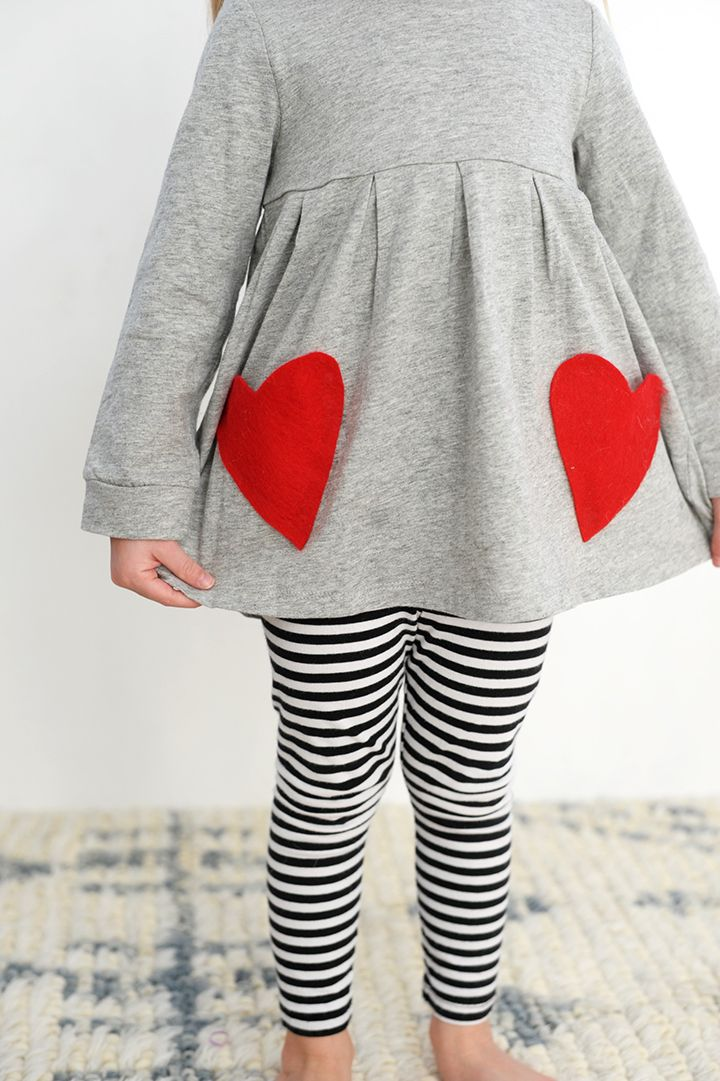 DIY No-Sew Valentine Heart Pocket Shirt - Alice and Lois