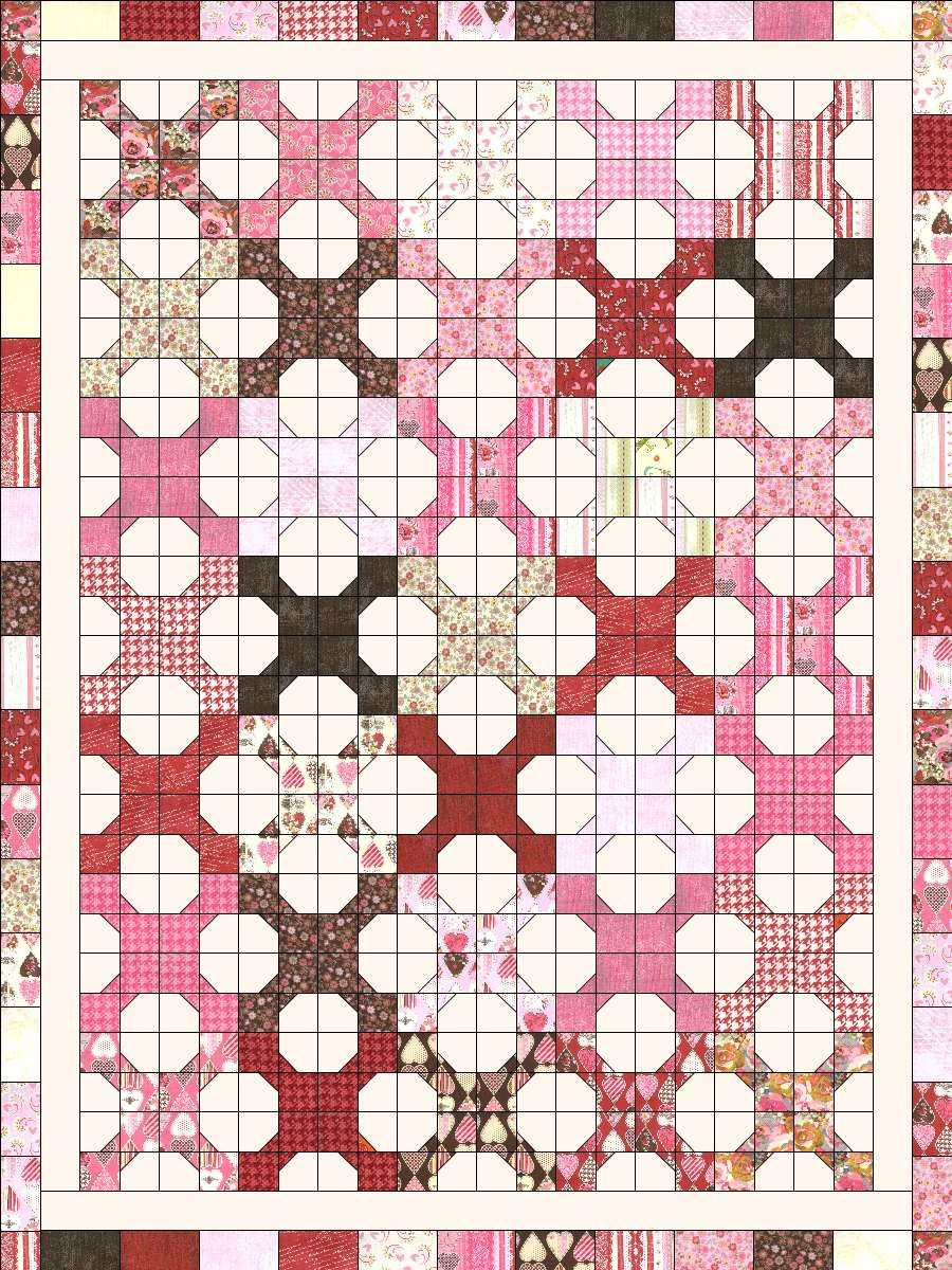 Christa S Quilt Along 5 2 Hugs N Kisses Fabric Layout Quilting