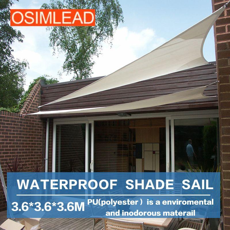 OSIMLEAD 3.6*3.6*3.6m waterproof sun shade sail - RECTANGLE CANOPY COVER - & OSIMLEAD 3.6*3.6*3.6m waterproof sun shade sail - RECTANGLE CANOPY ...