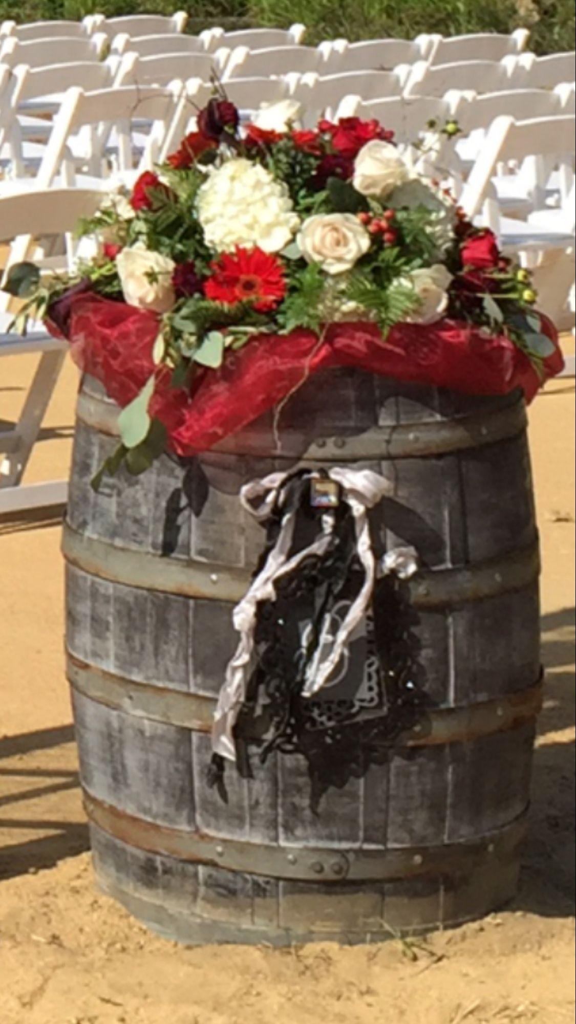 Red and black wedding decor  Wedding Vintage Decor Wine Barrel Stand  Wedding Decor  Sale