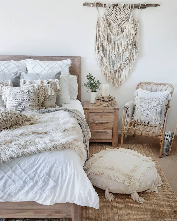 57 Bohemian Bedrooms That'll Make You Want to Redecorate ... on Boho Master Bedroom Ideas  id=36787