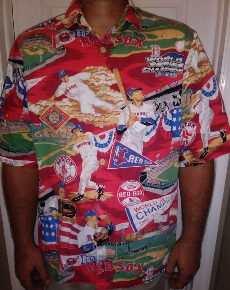 1311f5b9 Reyn Spooner Boston Red Sox World Series MLB Baseball Hawaiian Shirt Sz  Large #ReynSpooner #Hawaiian