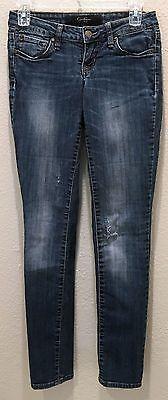 Jessica Simpson Malibu Skinny Distressed Blue Denim Jeans Size 25
