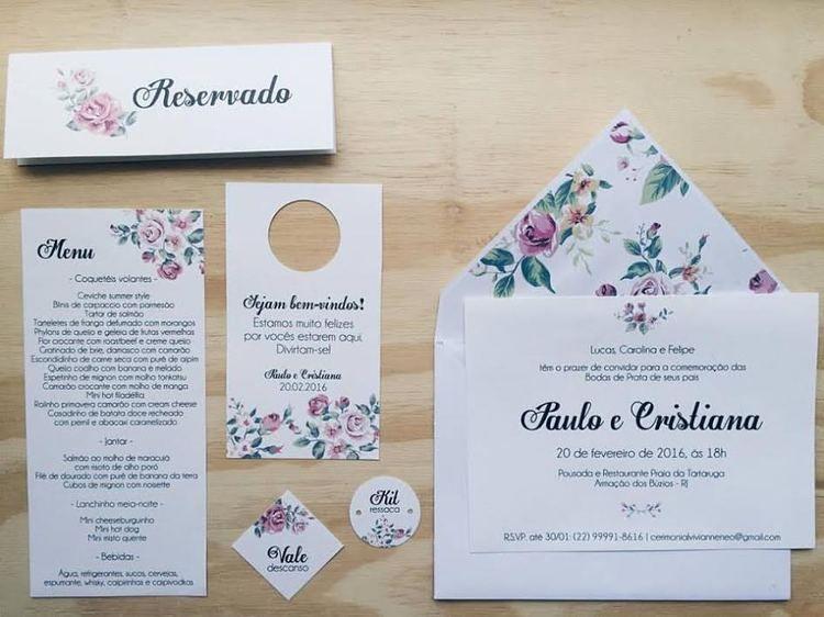 Convite De Casamento Convite De Bodas Papelaria Personalizada