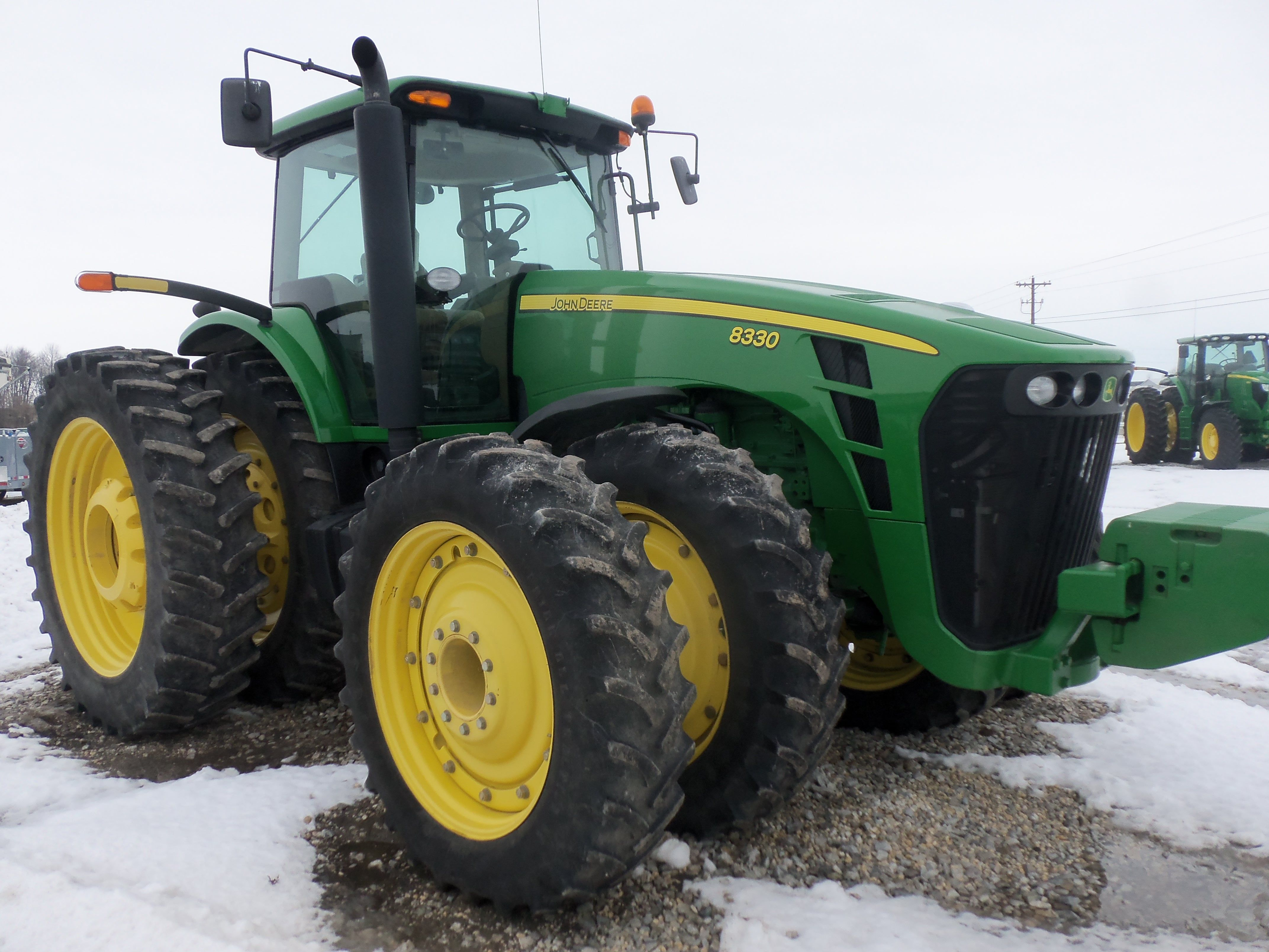 225hp John Deere 8330,Huffman-Hawbaker Farms has one of these.THis is the same hp as the 8400 introduced in1994
