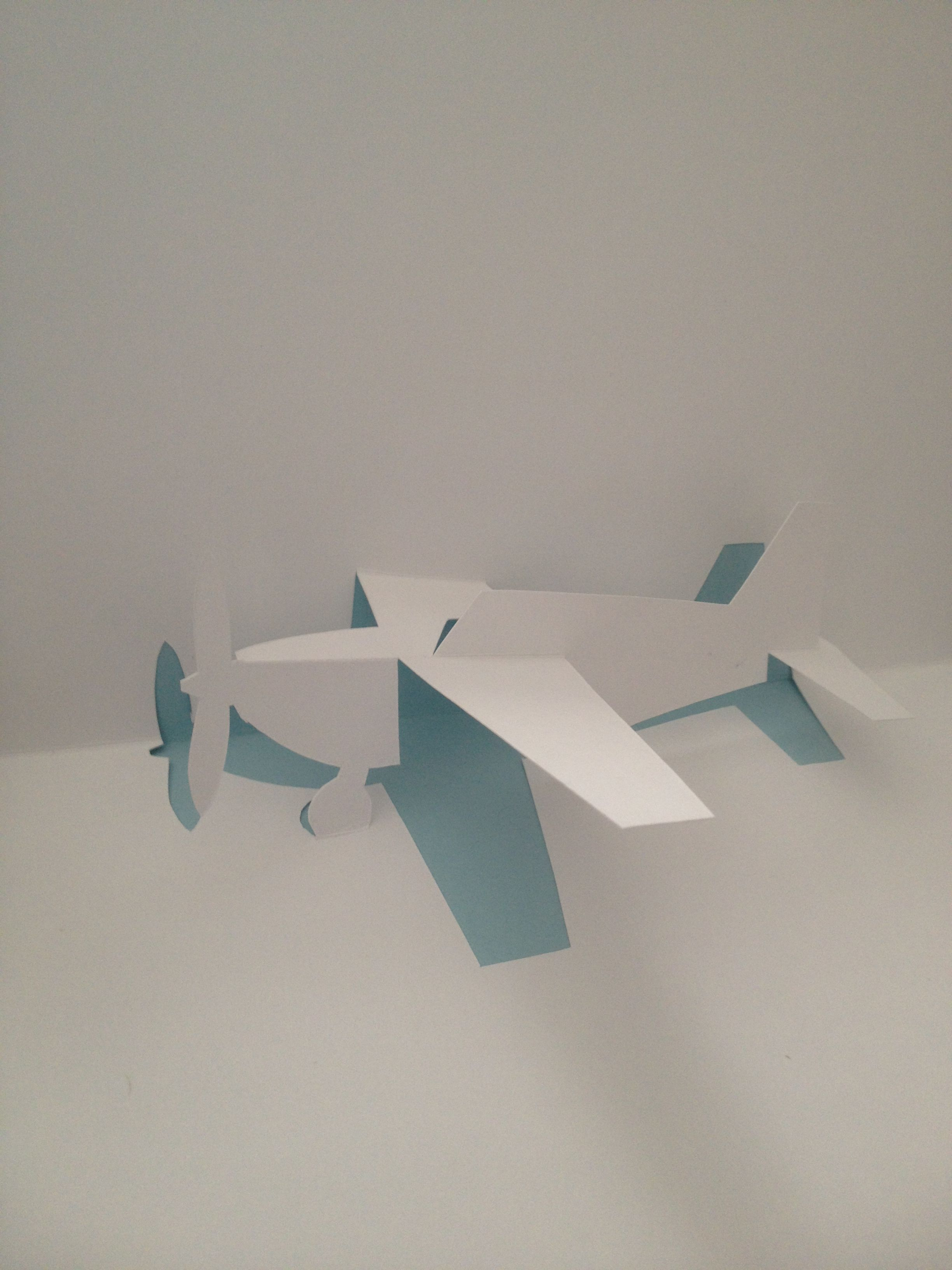 Airplane Pop Up Card Template From Cartes En Kirigami