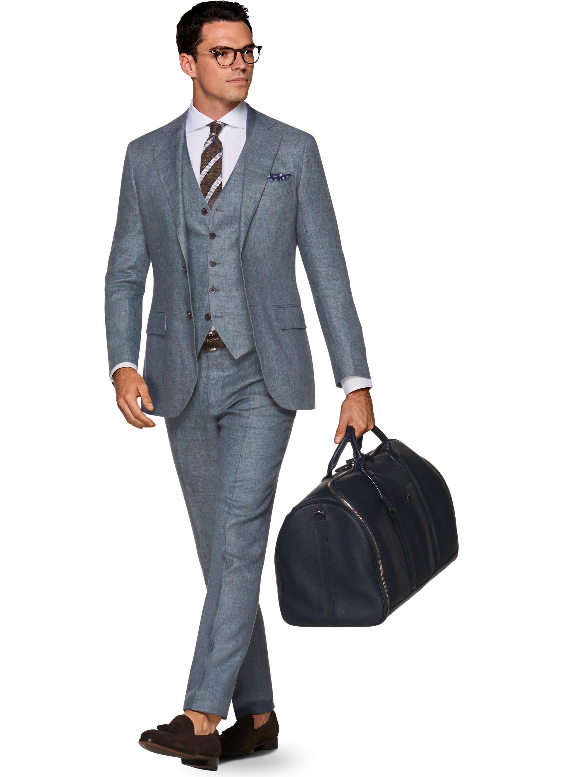 b6b4216932 Suit Blue Plain Lazio P5401i