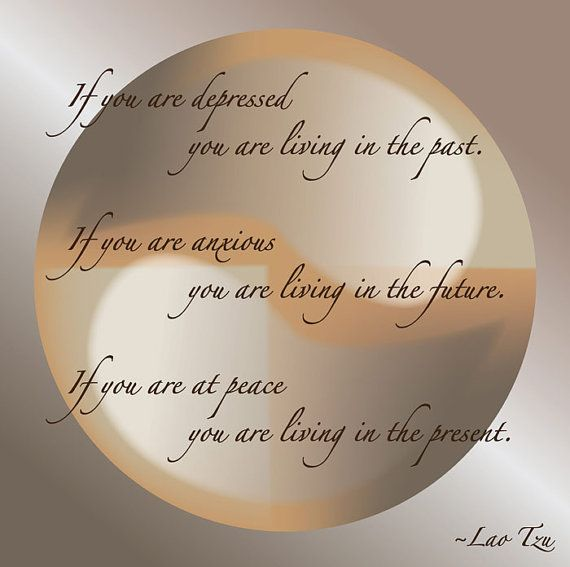 Lao Tzu Quote Live In The Present On A Beautiful Ying Yang