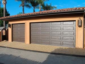 Brown Garage Doors | 16 X 8 And 8 X 8 Steel Backed Insulated Long Panel