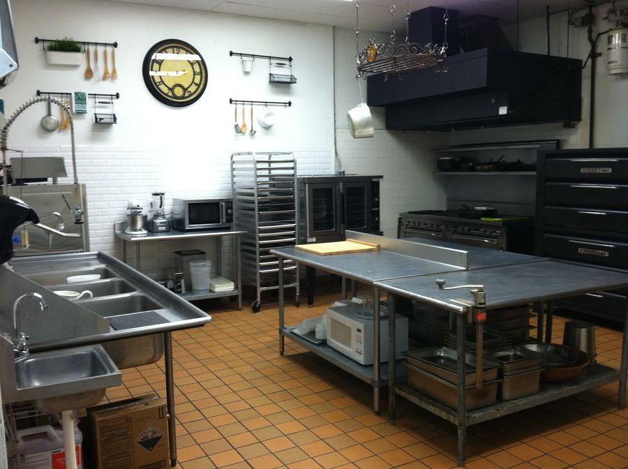 inside of a commercial kitchen  restaurant kitchen