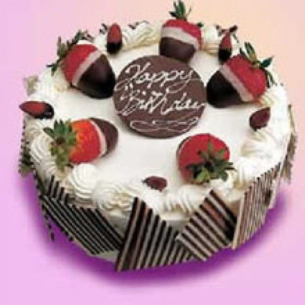 2 Pound Cream Fruit Chocolate CakeSay Happy Birthday By Send Cake Online To Your Dear One Feel Them More
