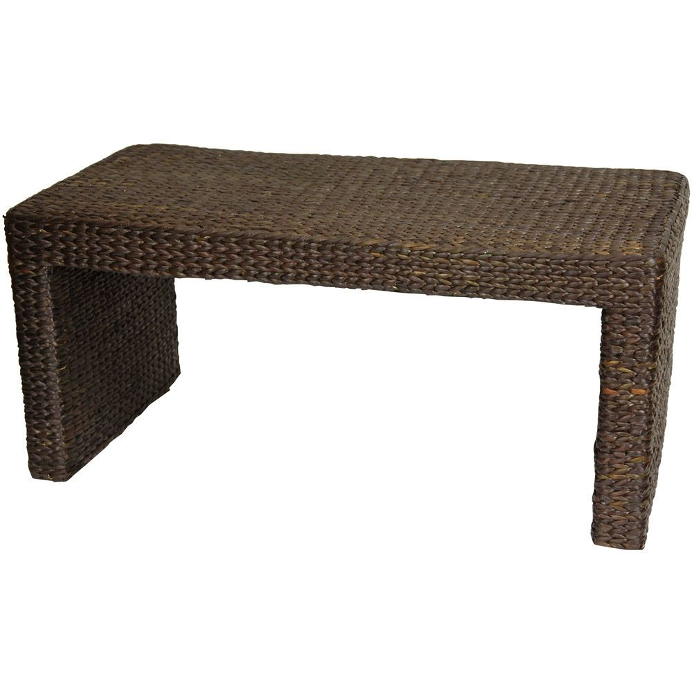 Oriental Furniture Rush Grass Coffee Table | Wayfair - $168