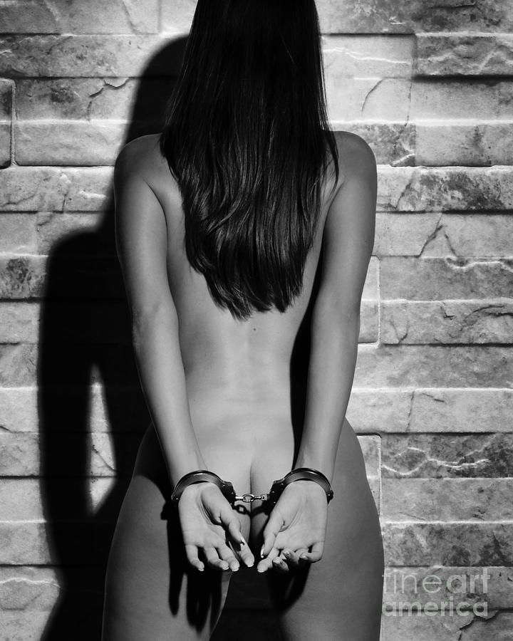 hot girls in black handcuffs