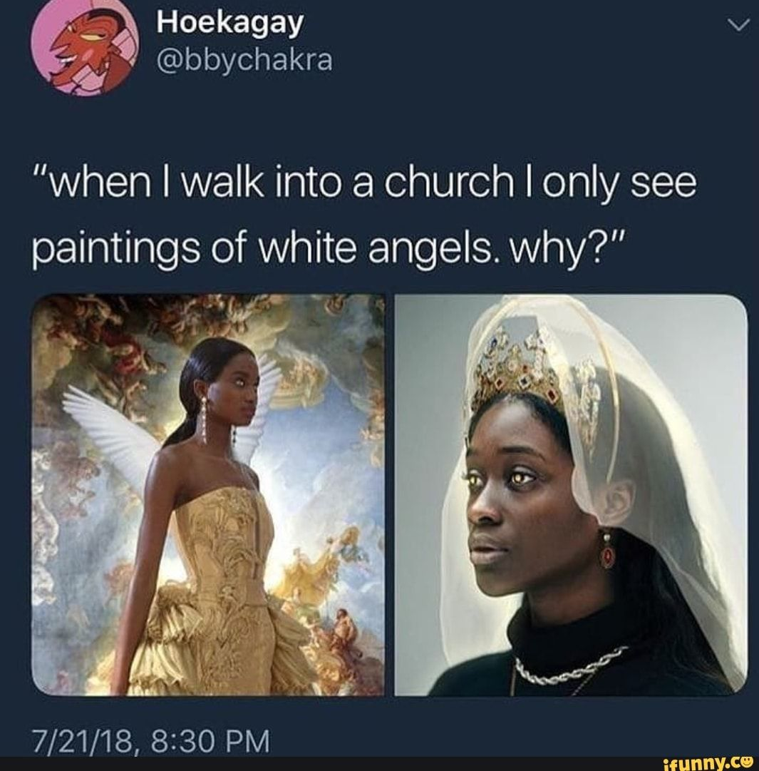 """""""when I Walk Into A Church I Only See Paintings Of White"""