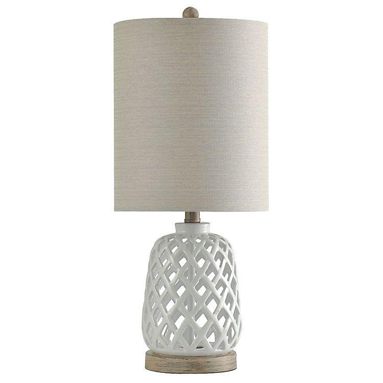 White Open Weave Ceramic Table Lamp Ceramic Table Lamps White Table Lamp Table Lamp