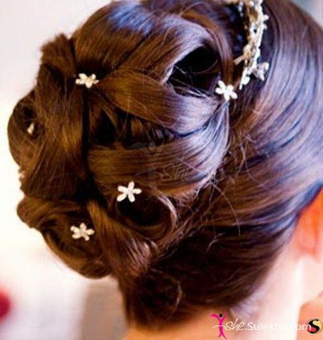 Indian wedding hairstyles for short hair #prom hairstyles | Bride hairstyles, Hair styles